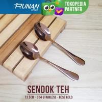 Tea Spoon Rose Gold - Sendok Teh Pink Rose Gold Sendok Kecil Stainless