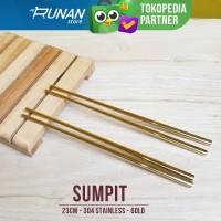 Sumpit Emas Gold Chopstick - Sumpit Stainless Hotel Korea Cafe