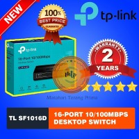 TP-Link TL-SF1016D/TLSF1016D 16 Port 10/100mbps Desktop Switch Hub