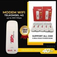 Modem 4G LTE Telkomsel 300 Mbps Unlock All GSM - Putih (Bisa Wifi)