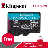 Kingston MicroSD Card Canvas Go! Plus Class 10 MicroSDXC 64GB