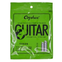 1 Set Senar Gitar Orphee Akustik / Acoustic TX 620 Original Size 10