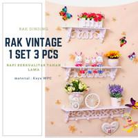 RAK DINDING GANTUNG [1 SET ISI 3 PCS] RAK SERBAGUNA VINTAGE - A536
