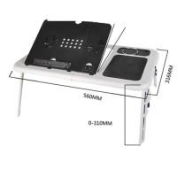 Meja Laptop lipat Desk portable E-Table cooling pad