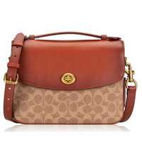 Coach Cassie Signature Crossbody Tan Rust Brass - ORIGINAL 100%