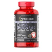 Puritan 's Pride Triple Omega 3-6-9 with Fish, Flax and Chia Oil 120sg