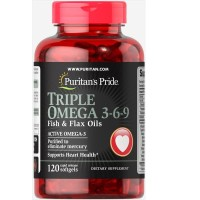 puritan 's pride Triple Omega 3-6-9 with Fish and Flax Oil 120 sg