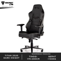 Secretlab TITAN 2020 Series Prime PU Leather Gaming Chair- Dark Knight