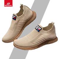 Sepatu Slip On Pria Import Redzeal CALZADO Sol Karet Anti Slip - Cokelat, 40