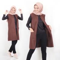 Baju Atasan Wanita Baju Muslim Blus Muslim Tunic Cardy Outer Rompi Lad