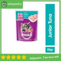 Whiskas Pouch Junior 85gr Makanan Kucing rasa Tuna