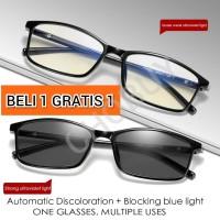 Kacamata photochromic Anti Radiasi Blue Ray komputer TV HP laptop