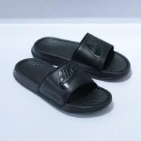 Nike Sandal Benassi Fullblack Sandals Sendal Ori Original Adidas Vans