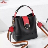 Button Leather Bag Tas Selempang Strap Button Tas Selempang Wanita