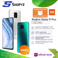XIAOMI REDMI NOTE 9 PRO NFC - 6GB 64GB 6/64 - SNAPDRAGON 720G - RESMI