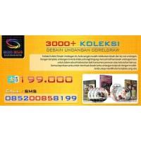 DVD 3000 Desain Mentah Undangan Pernikahan Coreldraw 7dvd Editable