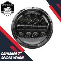Daymaker Spider Eye Venom 7 Inchi Lampu LED Motor W175 Benelli XSR