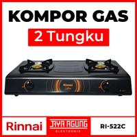 Kompor Gas 2 Tungku RINNAI RI-522C / RI 522 C / RI522C / Api Ekonomis