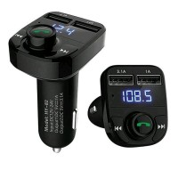 Bluetooth Audio Receiver FM Transmitter Handsfree with USB Car Charg