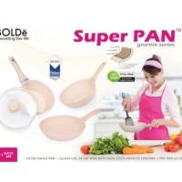 PROMO 1 BULAN Bolde Super Pan Set Beige Sauce Pan Fry Wok Fry Pan