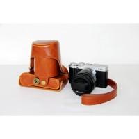 Tas Kamera Bahan Kulit PU Untuk FujiFilm Fuji XA3 Warna Coklat