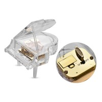 Kotak Musik Bentuk Piano Mekanik dengan Lampu Warna-Warni