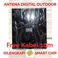Antena TV smart ber chip cangih led LUAR TOYOSAKI 220 10 Meter lj-072