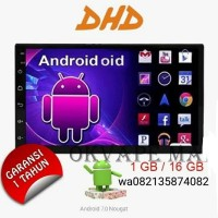head unit double din android 7 wifi gps tape mobil car player dhd 7