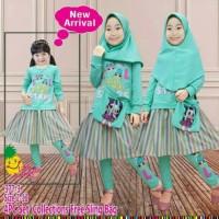 Termurah ! Baju Muslim Anak Perempuan LOL Star 3-8 Tahun