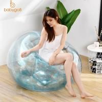 Sofa Tiup Bahan PVC Anti Air dengan Glitter untuk Dewasa dan
