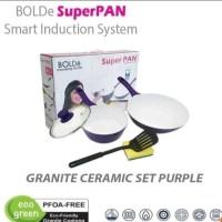 PROMO 1 BULAN Bolde Super Pan Set Ungu Sauce Pan Fry Wok Pan
