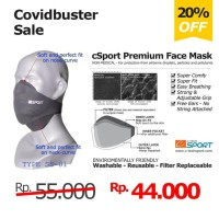 Masker Kain Non Medis - cSport Premium Face Mask SS-01