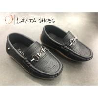 Calvins Sepatu Pantofel Anak Laki-laki Vin-13 - 31, Hitam