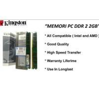RAM 2GB DDR 2 MEMORY KOMPUTER RAM 2 GB DDR 2 6400 KINGSTONE BARU 100%