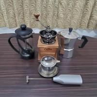 Ready Stock Coffee Maker Coffee Maker Set. Grinder, Mokapot Promo