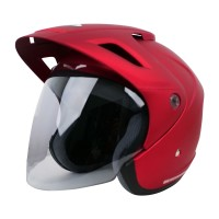 Cargloss CX Helm Half Face - Majestic Red All Size