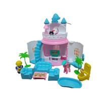 Mainan Anak Istana Boneka/Rumah Rumahan Bisa Dibuka Tutup