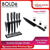 BOLDe Knives Set Granito 7PCS PURE STEINLESS STEEL