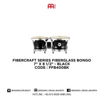 Meinl FIBERCRAFT SERIES FIBERGLASS BONGO BLACK - FFB400BK