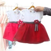 Two Mix Dress Bayi / Baju Bayi Perempuan Fashion / Pakaian Bayi 2966