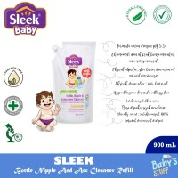 Sleek Bottle Nipple And Baby Accessories Cleanser 900 ml Refill