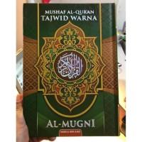 Mushaf BESAR A4 Non Terjemah - Al Quran AL MUGNI RAINBOW TAJWID WARNA