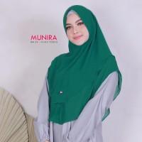 Munira Khimar MH20 Hijau Tosca Ceruti Jilbab Double Layer Antem Tipis