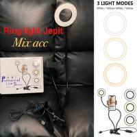 Ring light Lazypod 3 Mode with Phone holder 2in1 Jepit meja Ringlight2