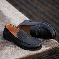 REYL MELISMATIC BLACK | Sepatu Pantofel Pria Sepatu Kulit Formal Hitam