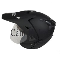 Helm 2 kaca semi cross black doff polos bukan jpx ink nhk bxp