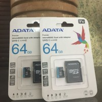 Micro SD HC Card with Adapter 64Gb Class 10 Adata memory card