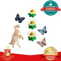 Mainan Kucing Kupu Kupu Terbang / Desk Butterfly