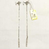 Anting Tusuk Panjang Fashion Korea Emas Putih 750