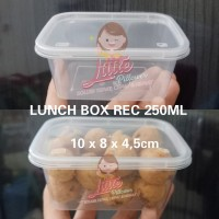 Lunch Box Mini Rec 250ml - Thinwall Kotak Makan Mini